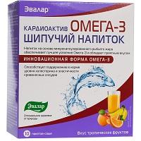 Кардиоактив шипучий напиток Омега 3 Эвалар