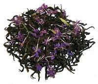 Чай с фиолетовыми цветочками