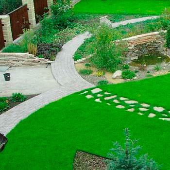 Пример использования газона