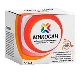 Микосан – концентрированный крем против микозов стоп