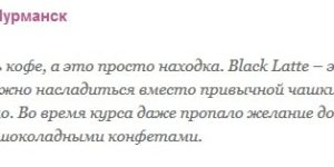 Реальные и отрицательные отзывы о Black Latte
