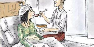 Мужчины ухаживают за партнером во время болезни не хуже, чем женщины