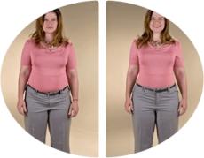до и после использования корректирующего белья