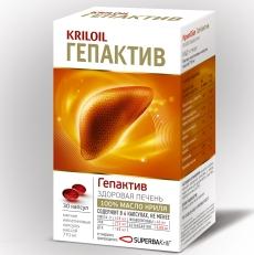 KrilOil GepActive – натуральное средство для очищения и восстановления печени