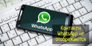 Не отображаются контакты WhatsApp — что делать